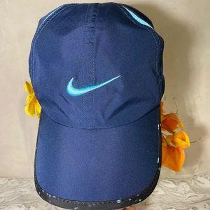 Nike Navy Blue Feather Light Cap Hat Dri Fit